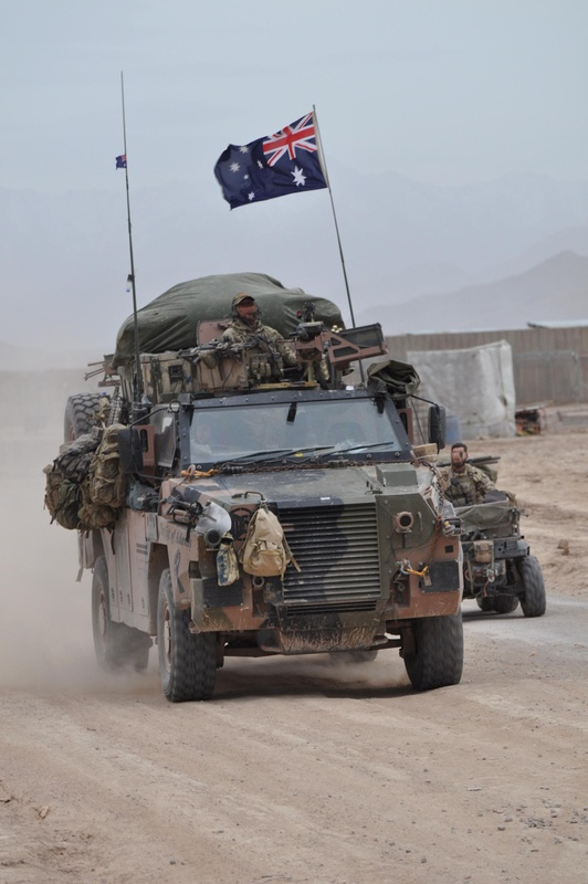 Bushmaster Protected Mobility Vehicle (PMV) in Southern Afghanistan