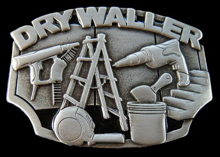 DRYWALLER CONSTRUCTION WORKER PLASTER TOOLS EQUIPMENT BELT BUCKLE BELTS BUCKLES #drywaller #construction #beltbuckle #buckles  #Casual