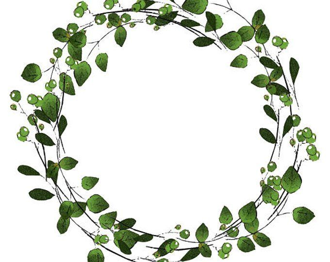 photo about Printable Wreath called Greenery Printable Wreath Printable Watercolor Wreath