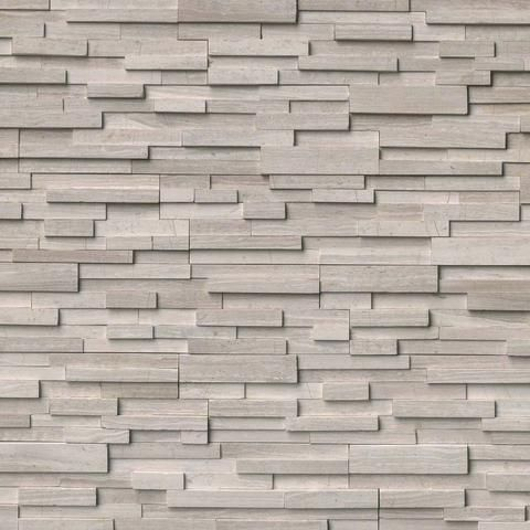 White Oak 3D Honed Ledger/Stacked Stone Panels