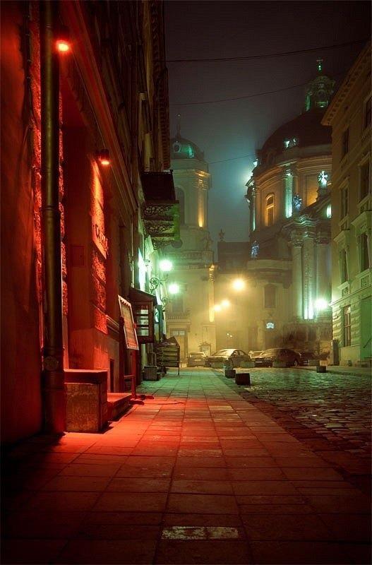 Night Lviv, W Ukraine, from Iryna with love