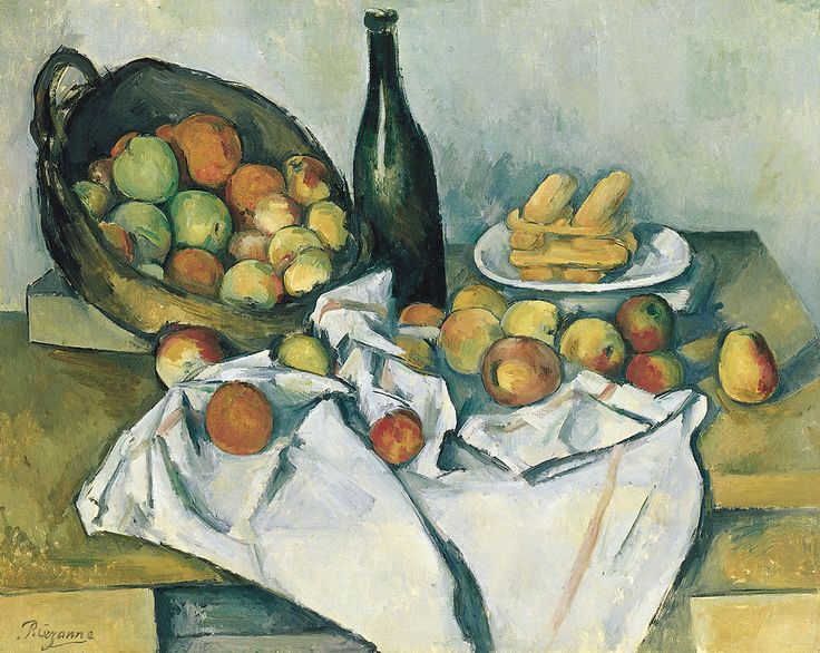 Paul Cézanne, The Basket of Apples - リンゴの籠のある静物   ポール・セザンヌ