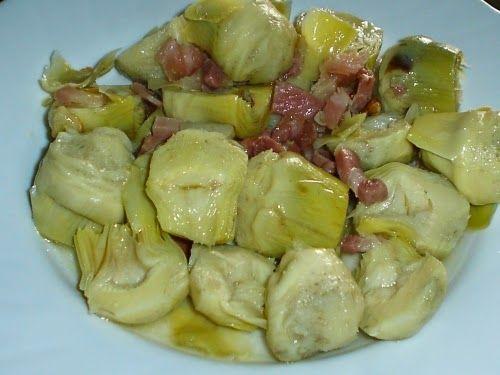 Varomeando: Alcachofas con jamón
