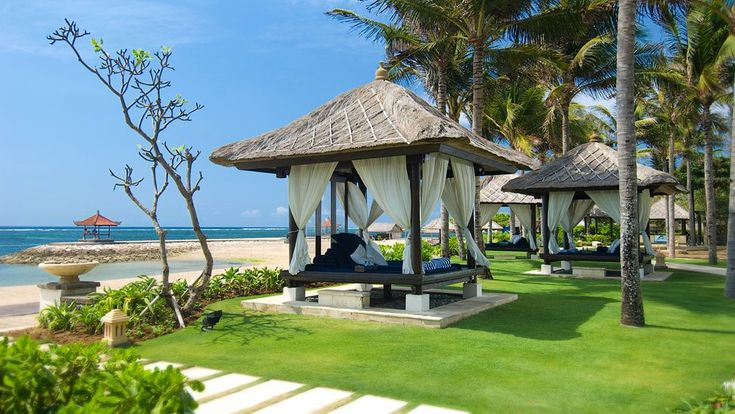The cabanas at Conrad Bali, Indonesia. See more of the resort here: http://www.kiwicollection.com/hotel-detail/conrad-bali-resort-spa#