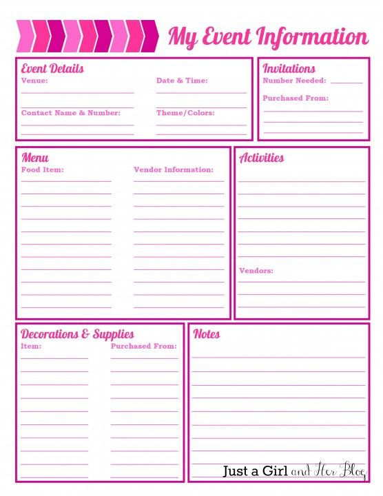 Printables Event Planner Worksheet 1000 ideas about event planning template on pinterest party organized free printables included worksheetevent