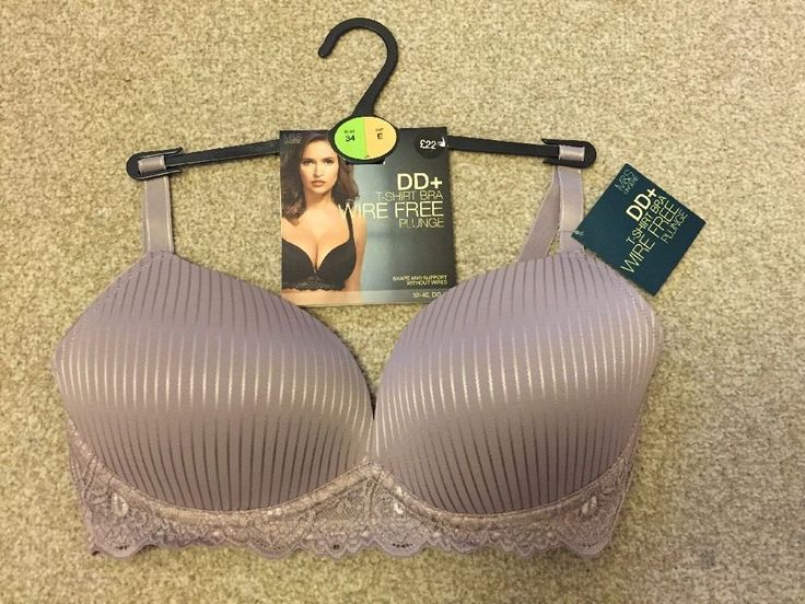 M&S T-SHIRT PLUNGE WIRE FREE BRA UK34E EU75E FR90E RRP£22.50 Shape & Support  | eBay