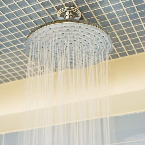 Outside the Box --- love the overhead rain-style shower head --- perfect in a masterbath!