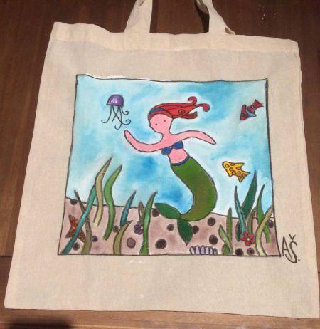 Plátené, ručne maľované tašky ♥
