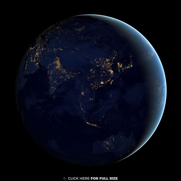 Earth Seen From Space Round