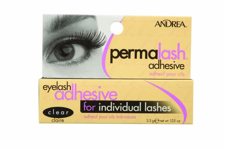 Andrea Permalash Adhesive - Clear, 0.125-Ounce (Pack of 6). Waterproof. Use with Andrea Perma-Lashes. Semi-permanent adhesive lasts for weeks.