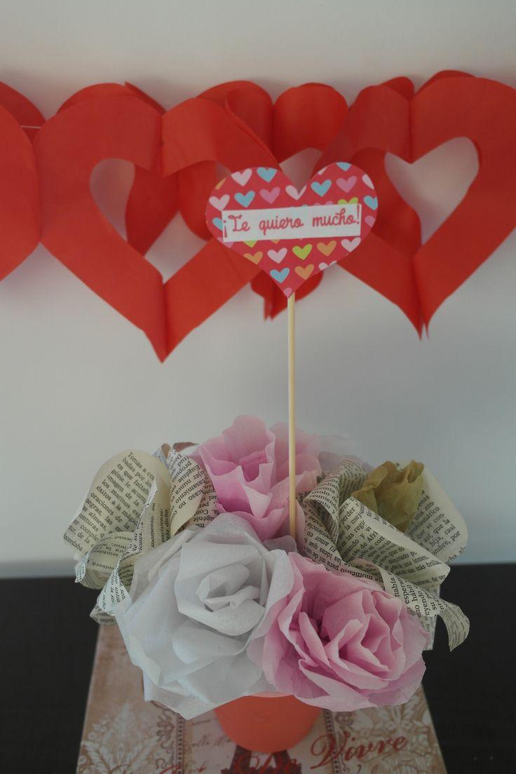 Flores de papel. San Valentín!