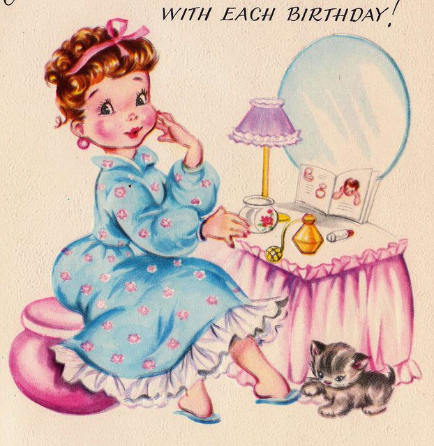 63 best Vintage Birthday Cards images – Cute Birthday Greeting Cards