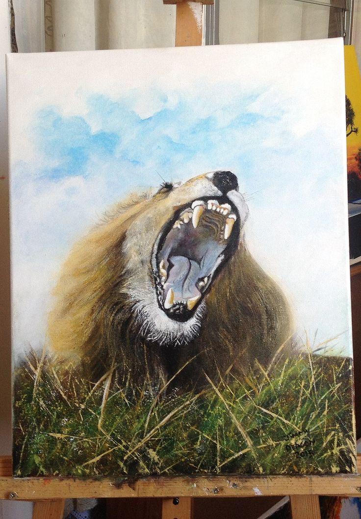 majestic roar - acrylic on canvas - jimmy deacon