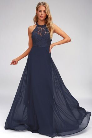 2fe287be7a6 Dance All Evening Navy Blue Lace Maxi Dress 2