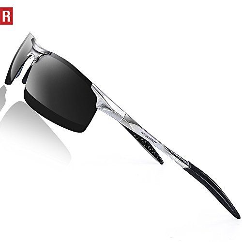 2562fd0def ROCKNIGHT Driving Polarized Sunglasses For Men UV Protection HD Glasses  Ultra Lightweight Al-Mg Metal Outdoor Sports Boating Biking Sunglasses  Rimless any ...
