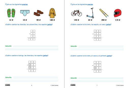 #TEA tres Cuaderno de sumas y problemas de sumas preparado para niños con autismo