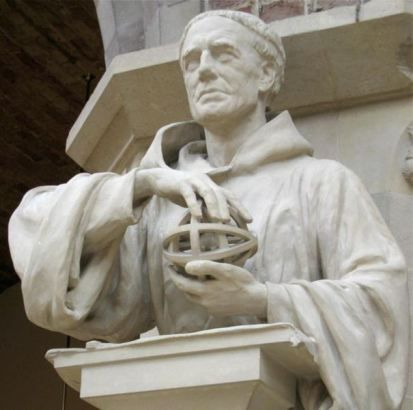 Statue of Roger Bacon in the Oxford University Museum of Natural History.  Thomas B. Costain's most popular novel, The Black Rose (1945).  -- Roger Bacon (1220 - 1292) is an incidental (but important) character.