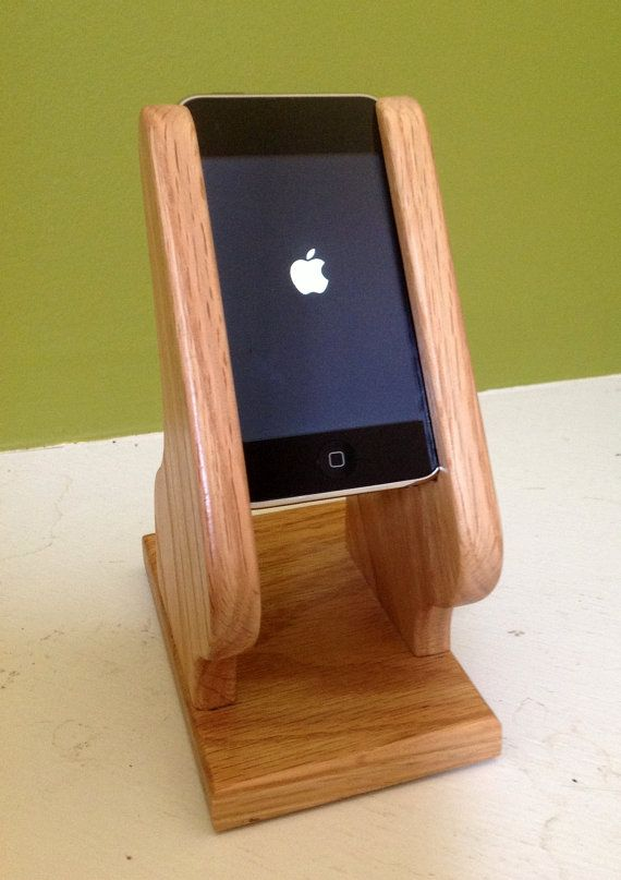 iPod Holder / Stand for Audio Use- Natural Finish $50.07