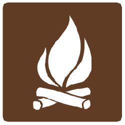 Outdoor Recreation Signs - Campfire Symbol - WEB172506