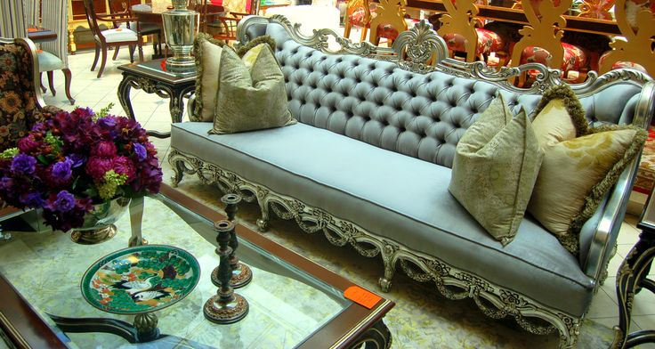 Kuwait 3 Seater Sofa. Fully Silver Leafed.  http://www.dlfurniture.co.za/catalogue.html