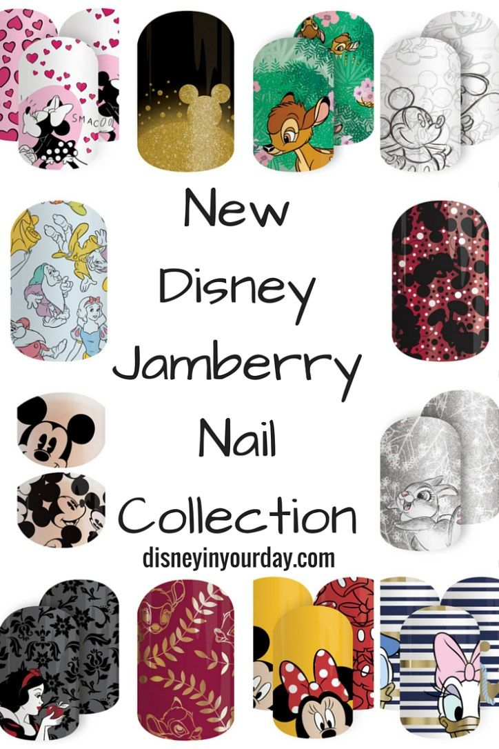 Disney by Jamberry - new designs! This one features Mickey and friends, Bambi, and Snow White. Plus they now have junior nail designs for the kids as well!