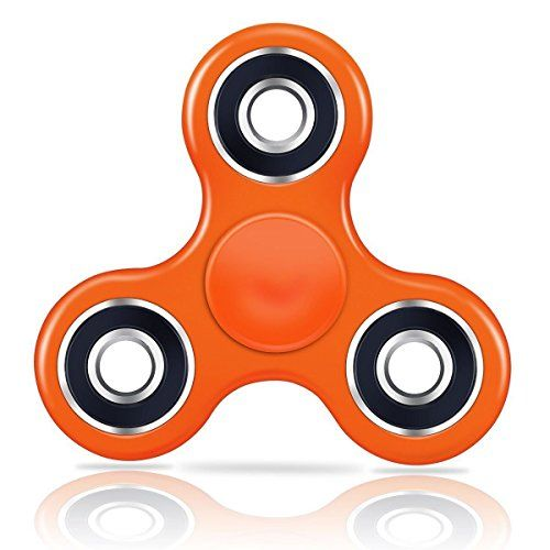 Oliasports  tri  spinner  Fidget  toy  for  add  adhd  anxiety  and  autism  adult  children  tri  spinner  orange