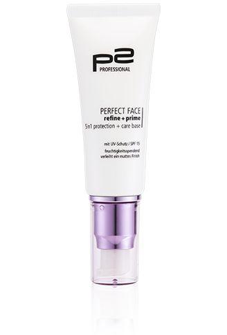 p2 cosmetics perfect face refine   prime 5in1 protection   care base