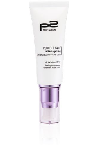p2 cosmetics perfect face refine   prime 5in1 protection   care base
