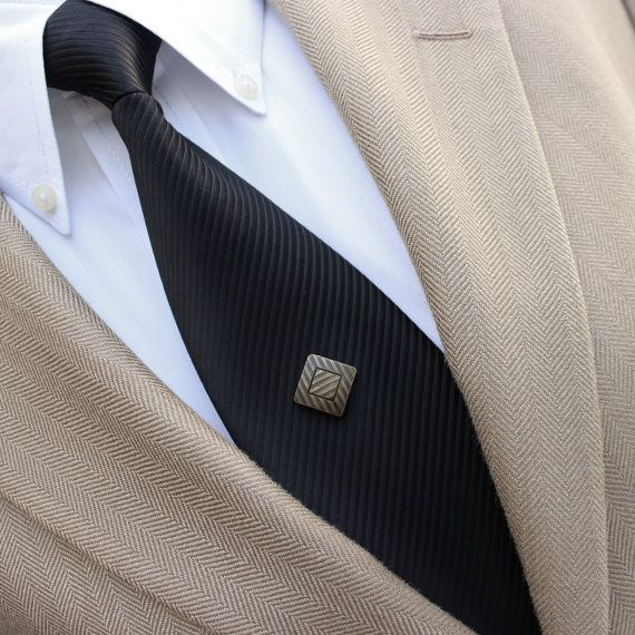 Bronze Tie Pin Antique Bronze Tie Tack Mens by PetalPerceptions