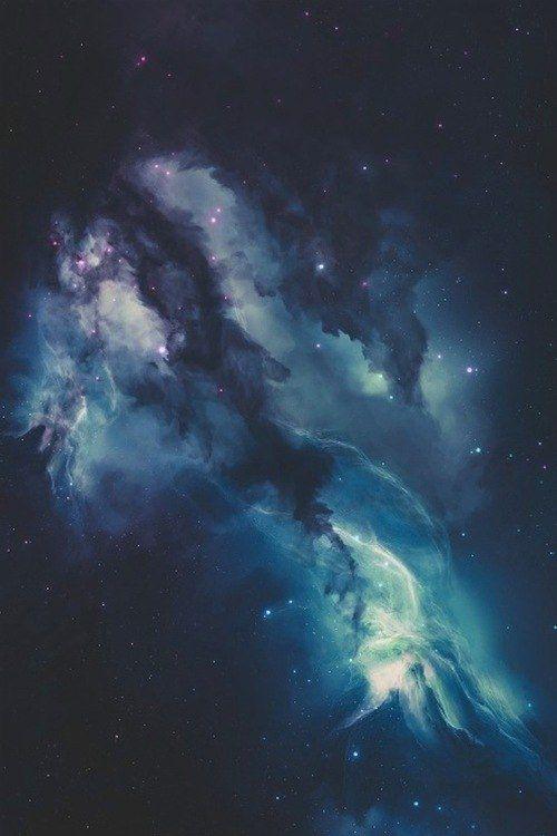 Blue galaxy #space #cosmo #stars