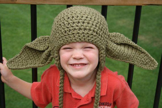Yoda Hat Crochet Pattern  Newborn  Toddler by KidzLidzAndOtherDigz, $5.00