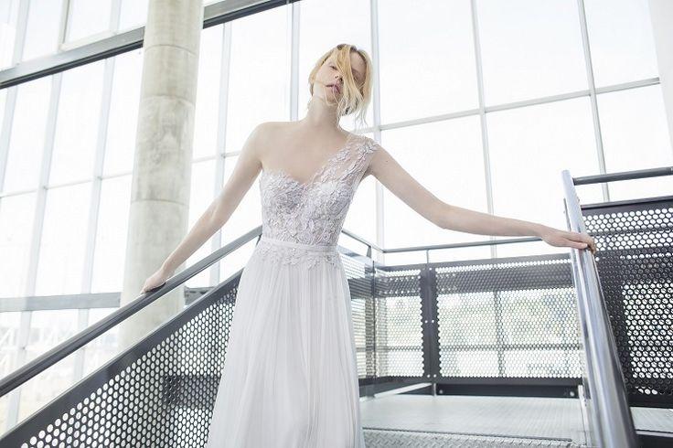 Mira Zwilinger 2016 Wedding Dresses | one shoulder wedding gown | fabmood.com: