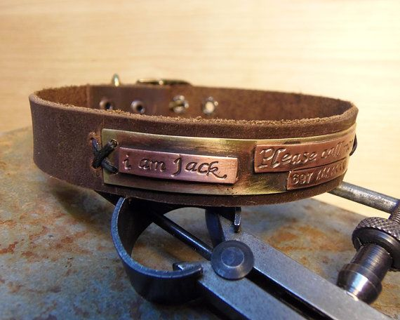 Small dog or Cat Collar Handmade personalized by VakalisCreations