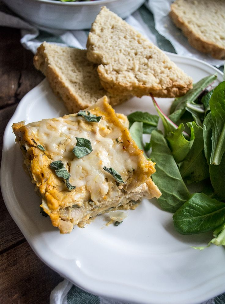 Three Cheese Butternut Squash and Spinach Lasagna   Lemons and Basil