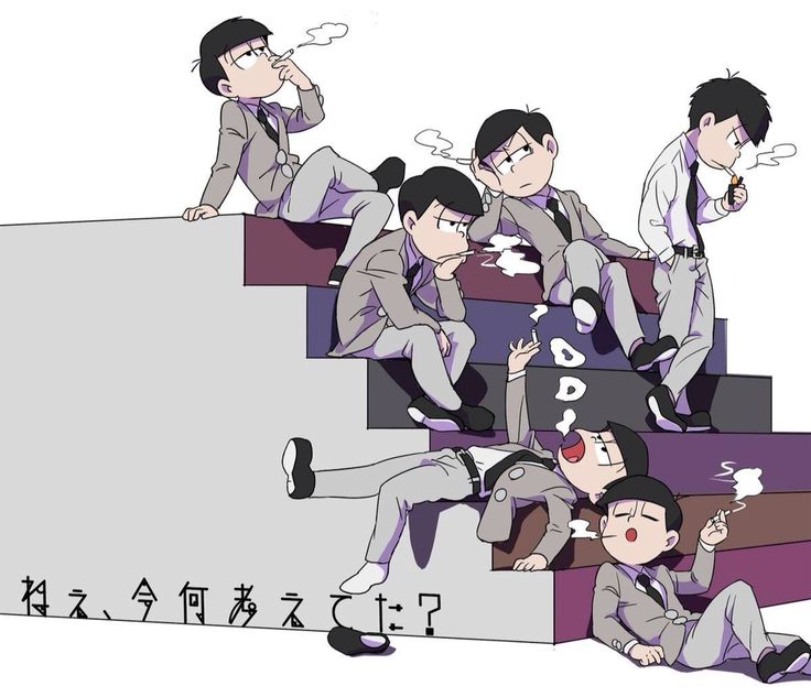 Osomatsu-San,i usually dont like smoker,but this time i'll forget it ;)