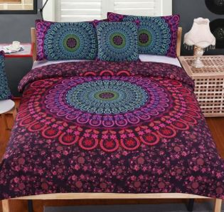 Only $79.16! Colourful boho style mandala bedding 4 piece set. Shop24seven365 for this super cool gift. Purchase from www.shop24seven365.com.au
