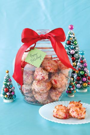 Cherry-Almond-Coconut Macaroons