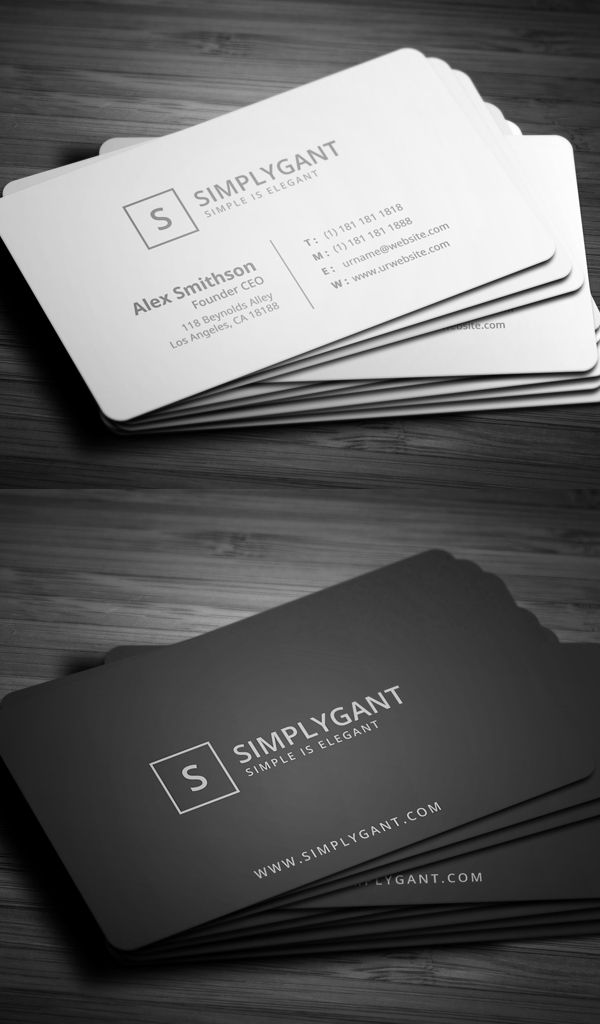 Simple Minimal Business Cards More
