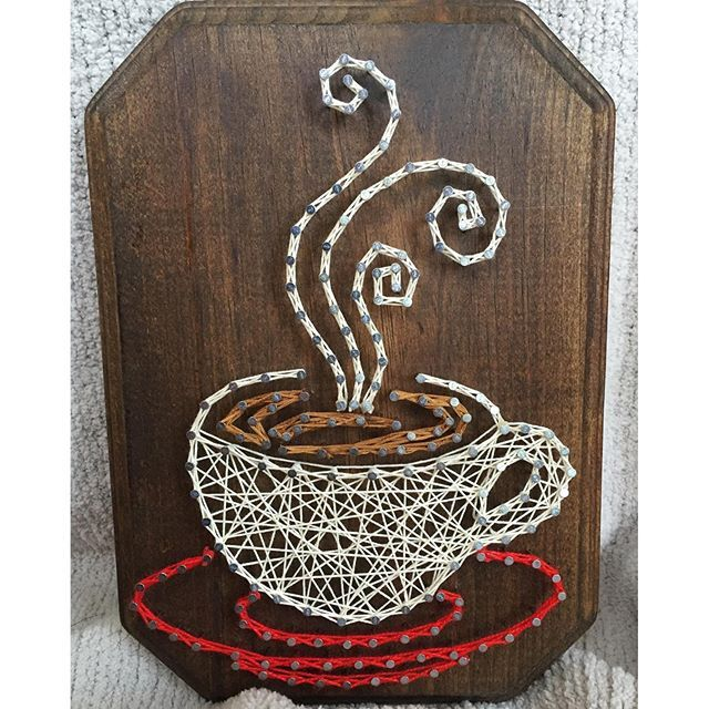 Coffee string art by  imhangingitup                                                                                                                                                      More