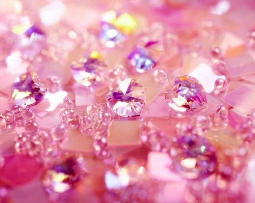 glitter, hearts, jewels, magic, pink, shine