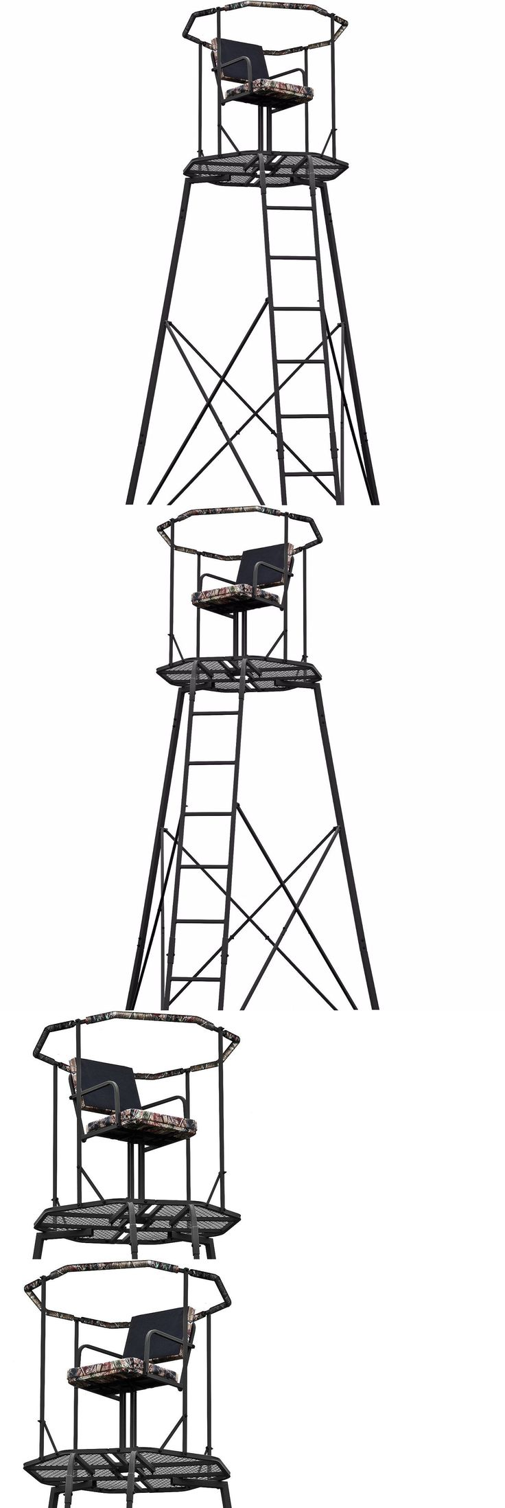 Tree Stands 52508: Treestand Tripod Tree Stand Hunting Ladder Seat 15 Deer Bow Real Outdoor -> BUY IT NOW ONLY: $610.06 on eBay!