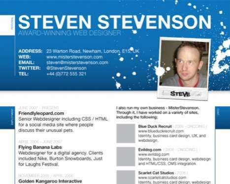 Creatives Flock To Designer CVs To Stand Out From The Crowd #resumes  Trendhunter.com