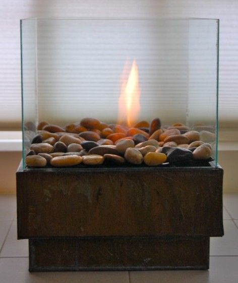 Best Fire Bowl Images On Pinterest Fire Bowls Fire And DIY - Concrete outdoor fireplace river rock fire bowl from restoration hardware