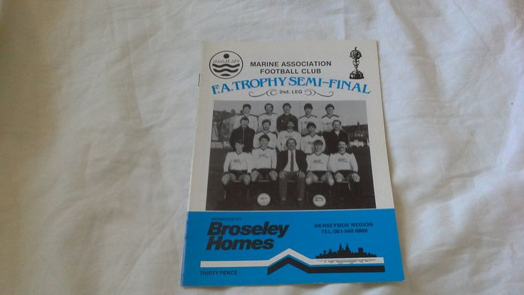 Marine v Northwich Victoria 14th April 1984 Football Programme by brianspastimes on Etsy