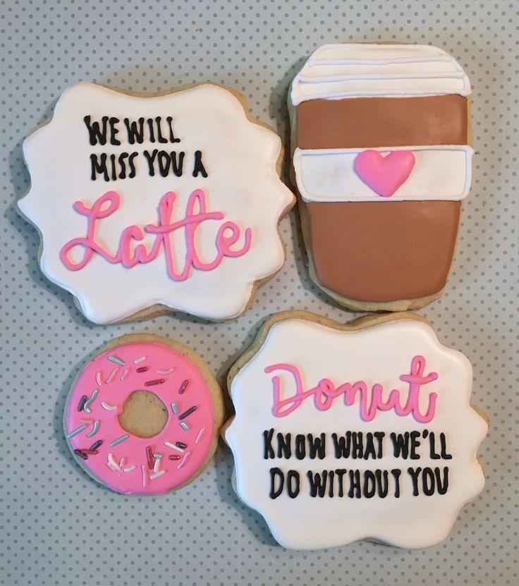 Miss You A Latte Cookies/ Donut Cookies By Elizabeth Dawes