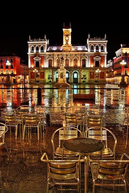Plaza Mayor de Valladolid, Spain  traveled here for grad school research in 2000