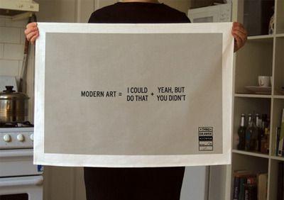 Tea Towel Modern Art