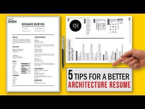 5 Tips for a Better Architecture Resume CV / Free Template - YouTube