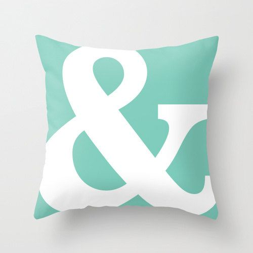Ampersand Pillow Cover Typography Throw Pillow by AldariHome