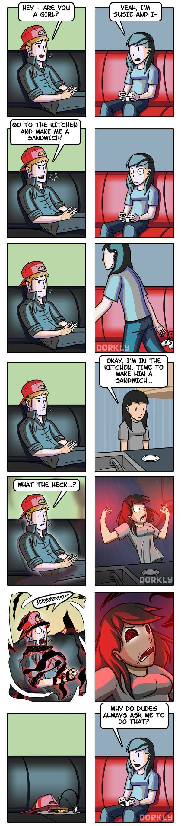 Make Me a Sandwich Comic http://geekxgirls.com/article.php?ID=5408